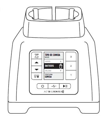 icono licuadora controles
